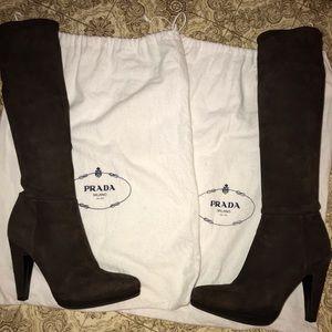 Genuine Suede Prada Boots